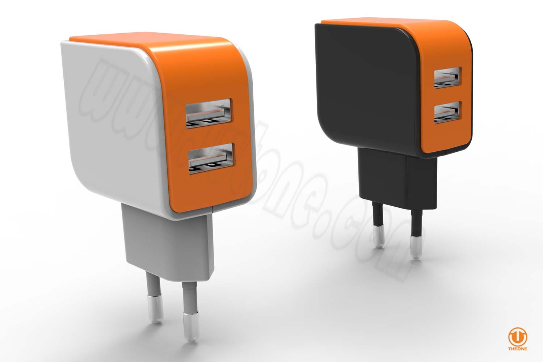 tc02b3-2 dual usb wall charger