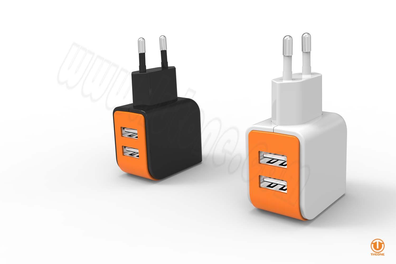 tc02b3-4 dual usb wall charger