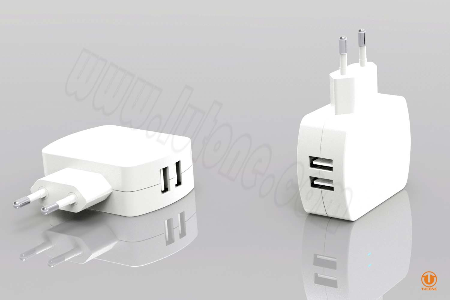 tc02b6-4 dual usb wall charger