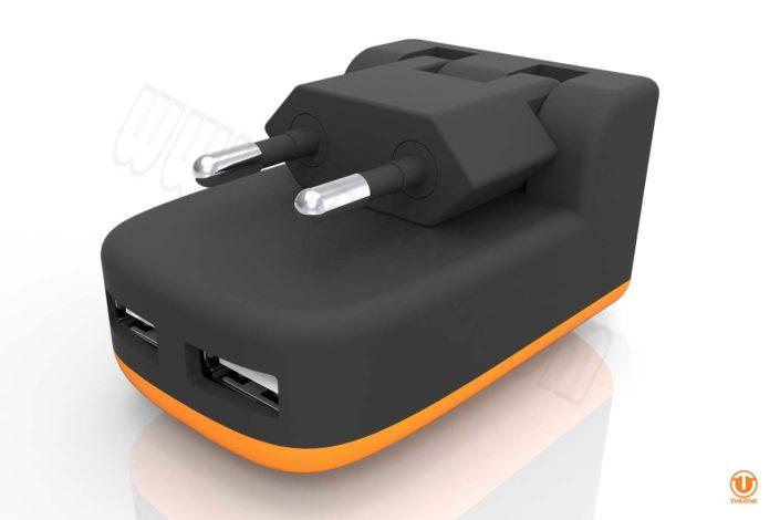 tc02b8-3 dual usb wall charger