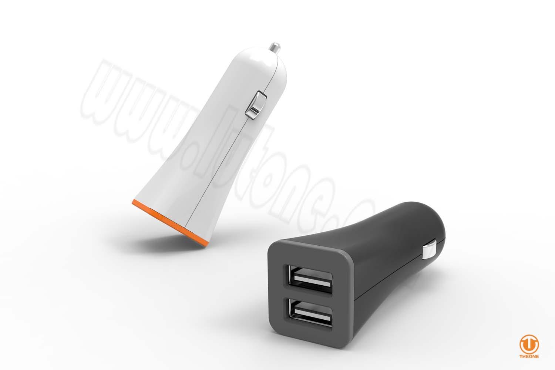 tc02c3-2 dual ports car charger