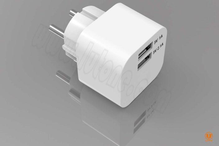 tc03b2-3 dual usb wall charger