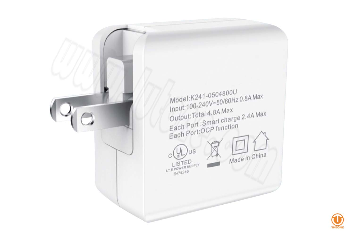 tk241-1 dual usb wall charger