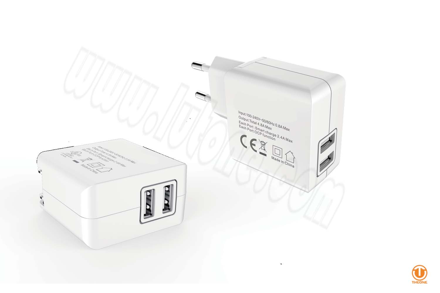 tk241-2 dual usb wall charger