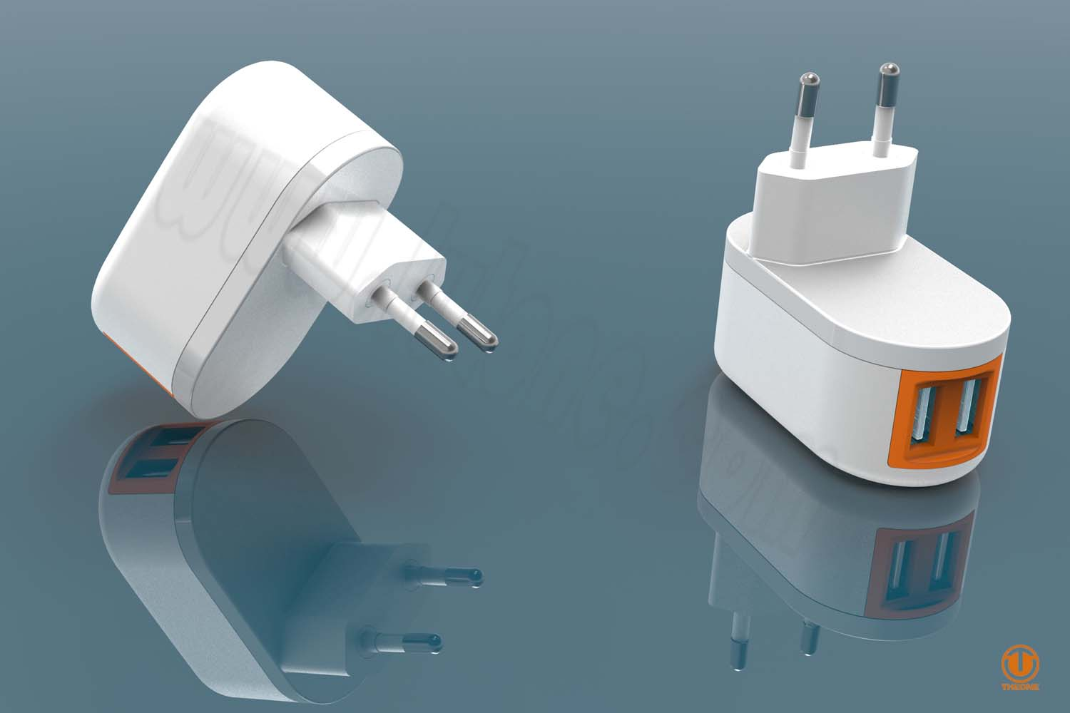 tw01a8-4 dual usb wall charger