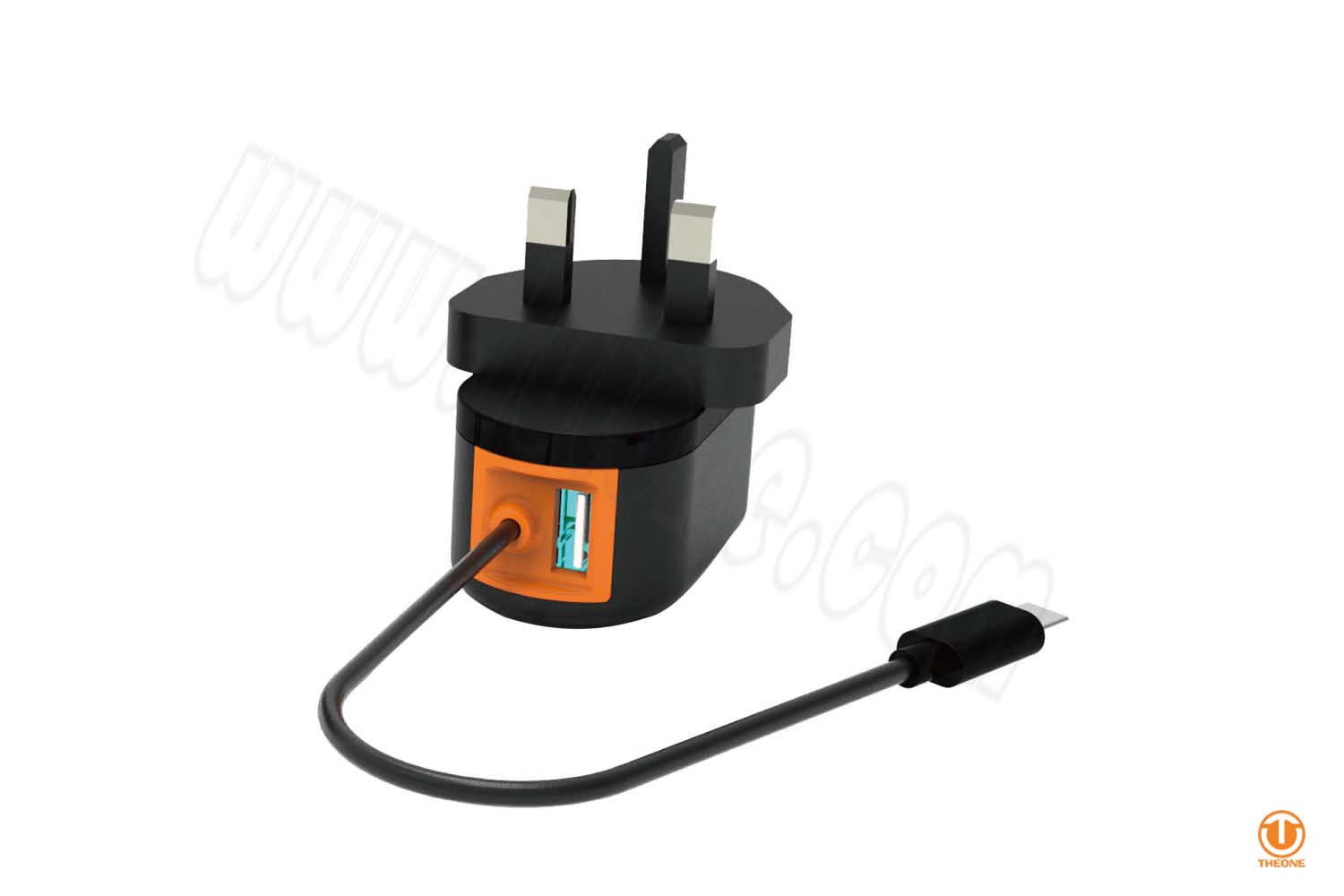 tw01a9-1 wire charger with extra usb port