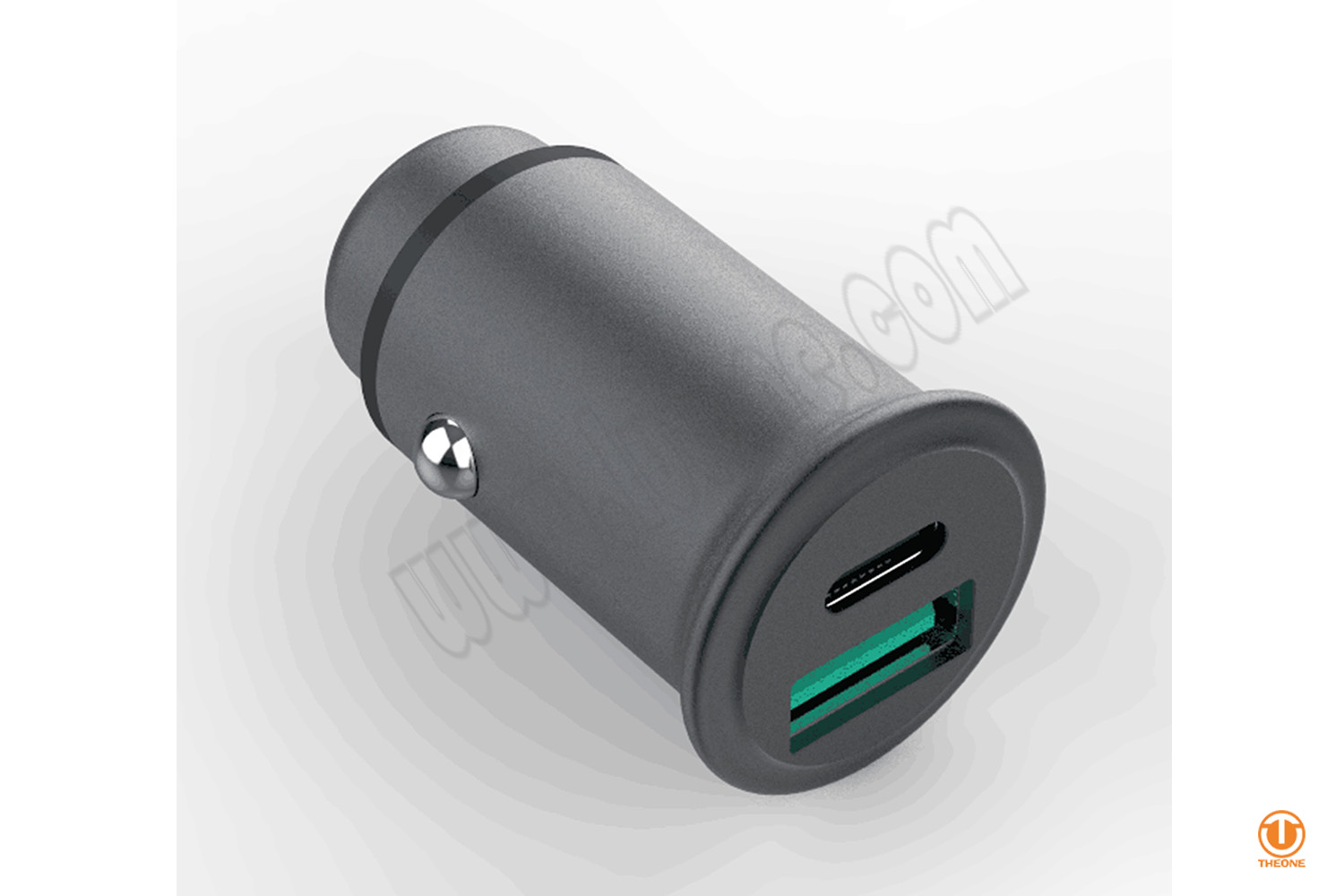 30W MINI Car Charger with PD and QC (Aluminum house)