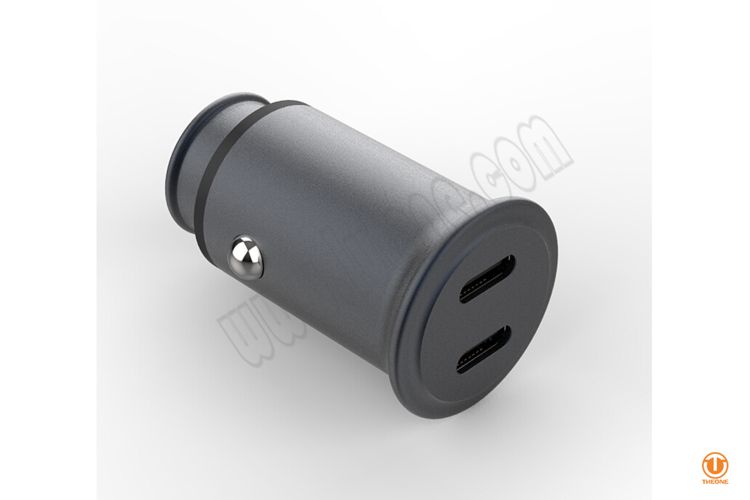 30W MINI Dual PD Car Charger (Aluminum house)