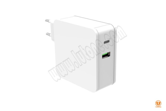 60W USB-C PD Power Adapterwith with QC3.0