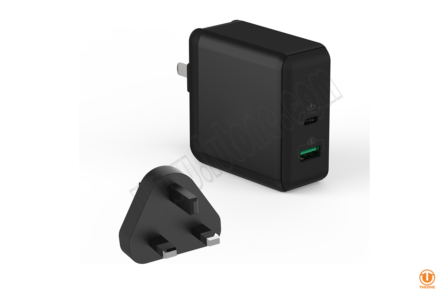 60W USB-C PD Power Adapter (with extra USB port)