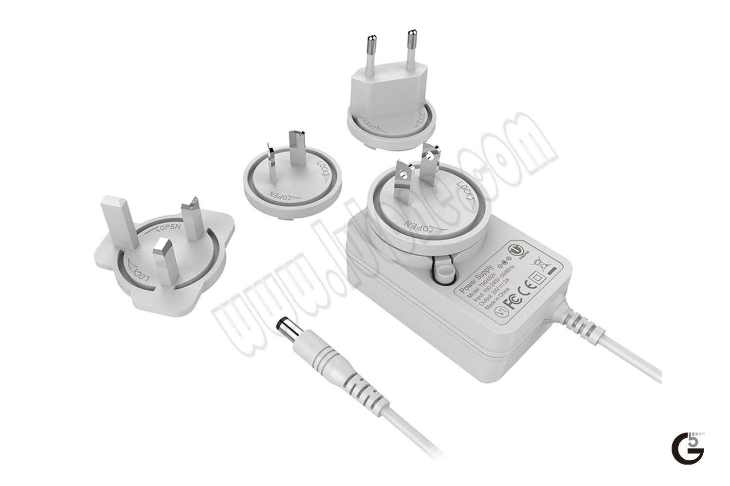 24W Interchangeable Horizontal USB/Cable Series