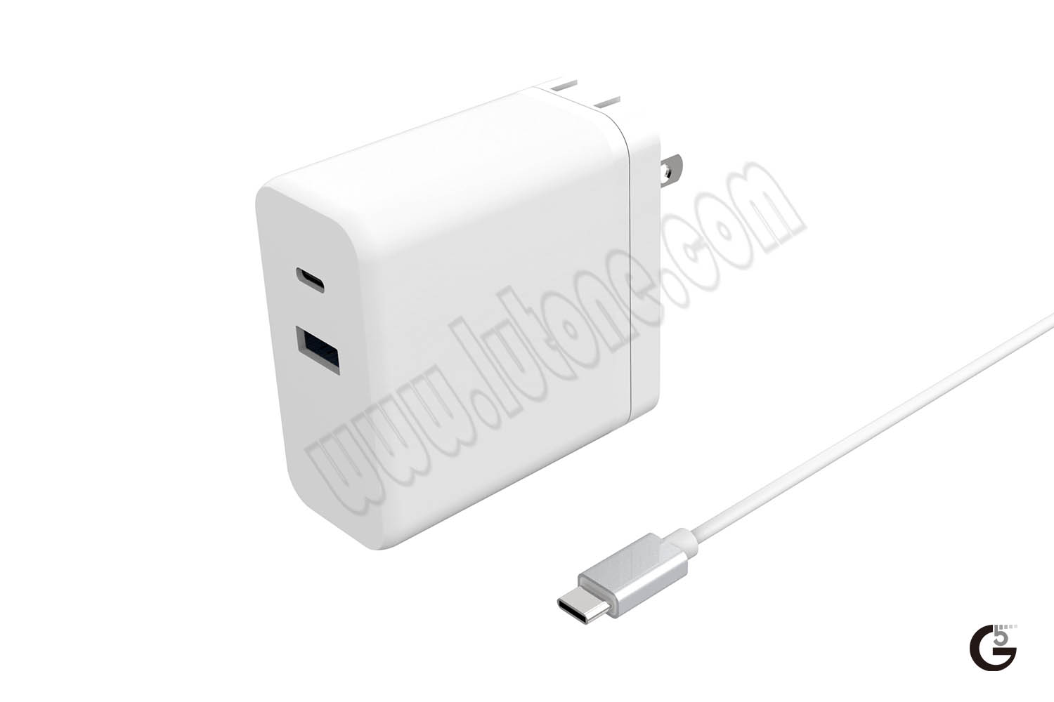 65W USB-C PD Foldable Charger